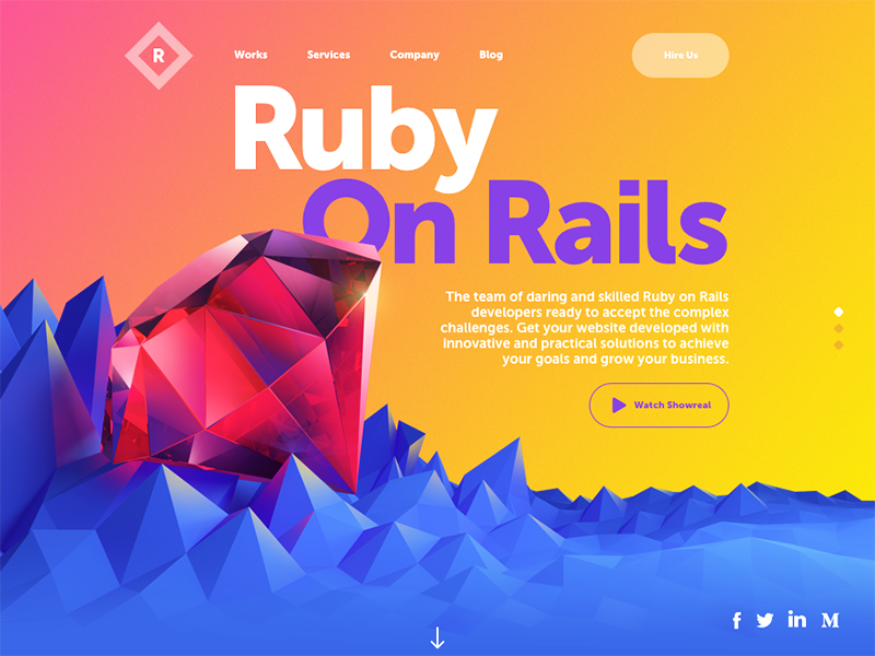 Photo: Ruby Solutions Website by tubik.